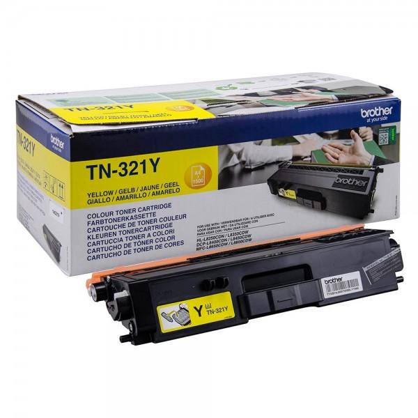 Зареждане на тонер касета   Brother TN-321Y