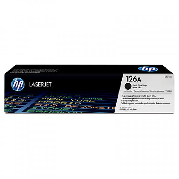 Зареждане на тонер касета HP 126A black -CE310A