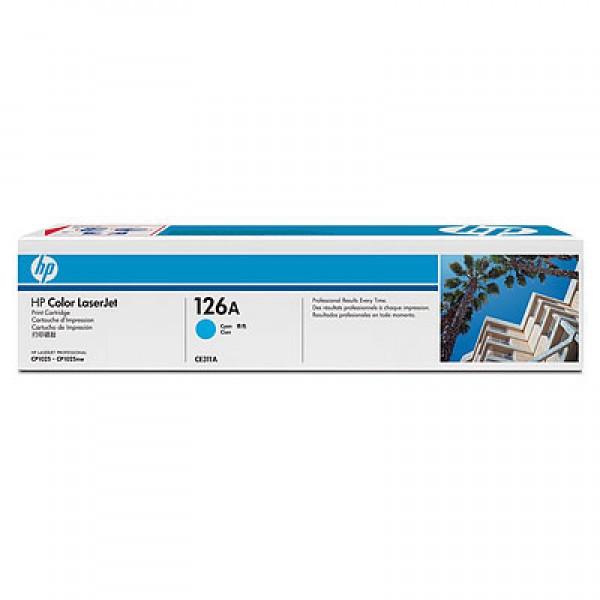 Зареждане на тонер касета HP 126A Cyan-CE311A