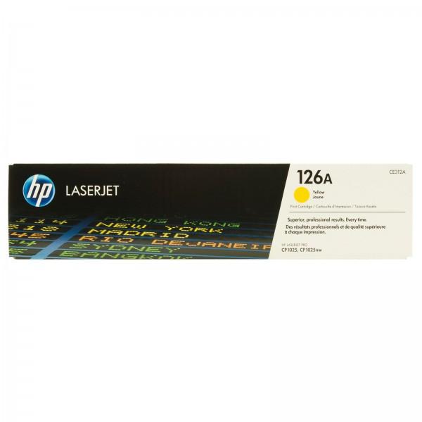 Зареждане на тонер касета HP 126A Yellow - CE312A