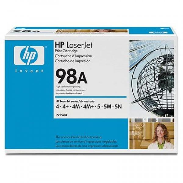 Зареждане на тонер касета HP 92298A