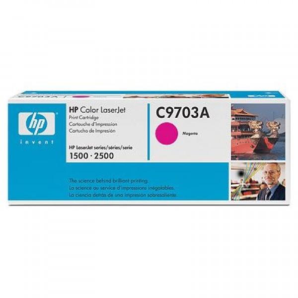 Зареждане на тонер касета HP C9703A - 121A Magenta