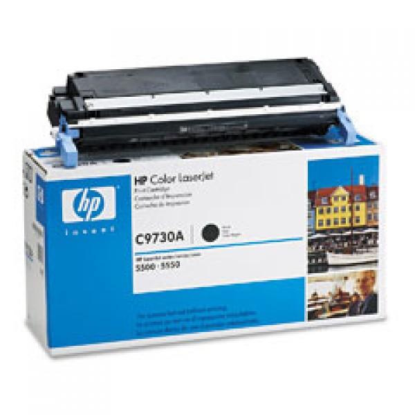 Зареждане на тонер касета HP  C9730A -  645A Black