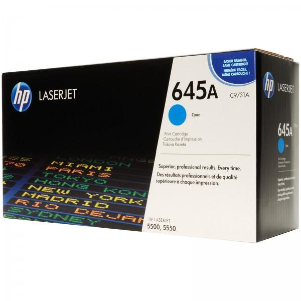Зареждане на тонер касета HP C9731A -  645A Cyan