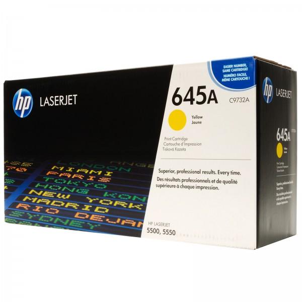 Зареждане на тонер касета HP C9732A -  645A Yellow