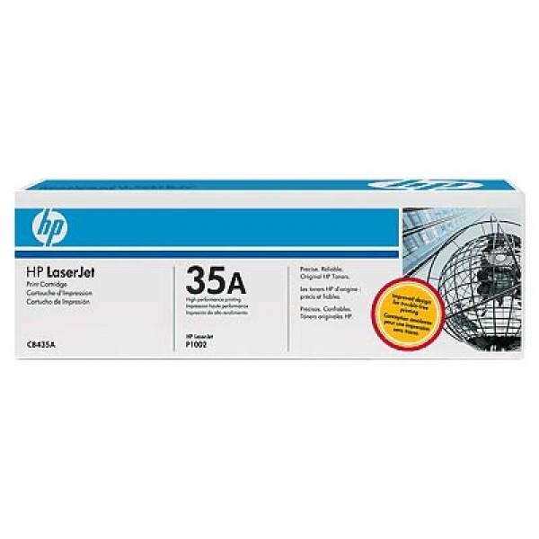 Зареждане на тонер касета HP CB435A