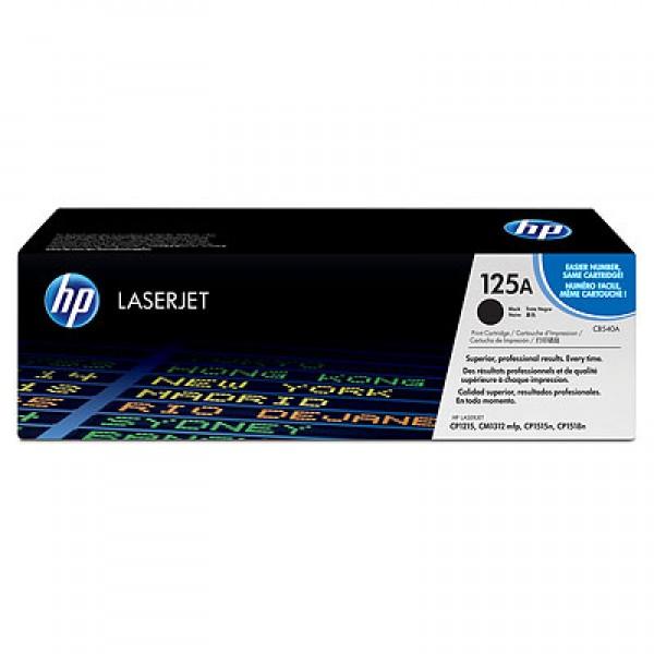 Зареждане на тонер касета HP CB540A - 125A Black