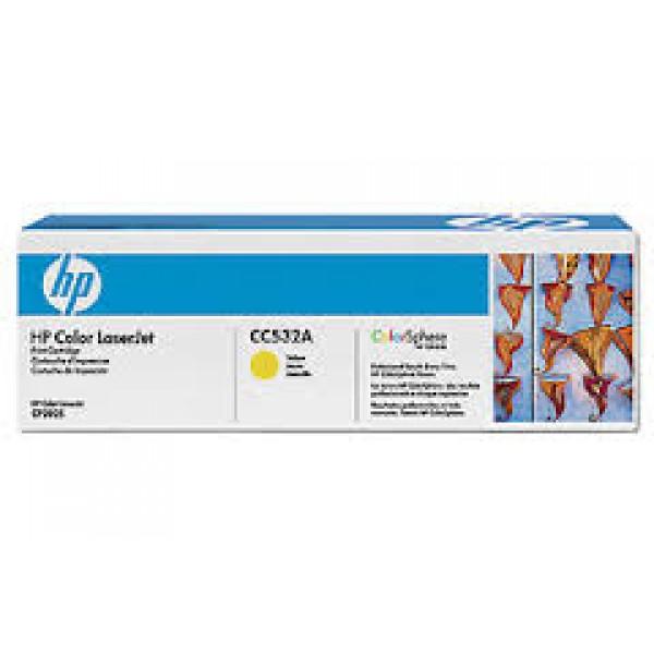 Зареждане на тонер касета  HP CC532A Yellow