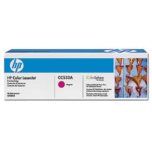 Зареждане на тонер касета HP CC533A Magenta