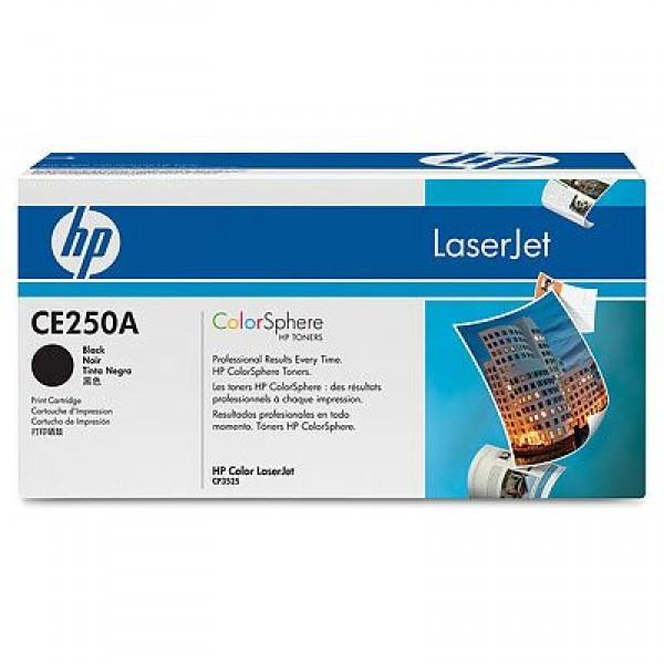 Зареждане на тонер касета HP  CE250A black
