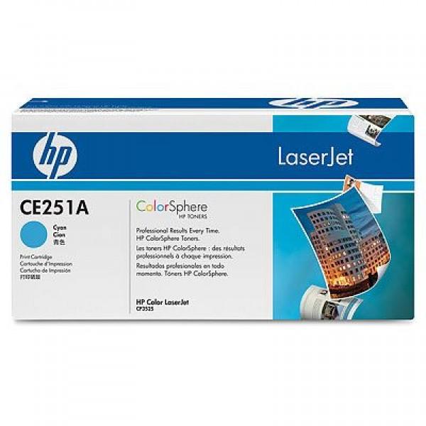 Зареждане на тонер касета HP CE251A Cyan