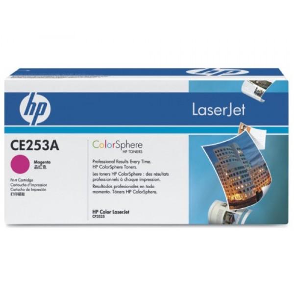 Зареждане на тонер касета HP CE253A Magenta
