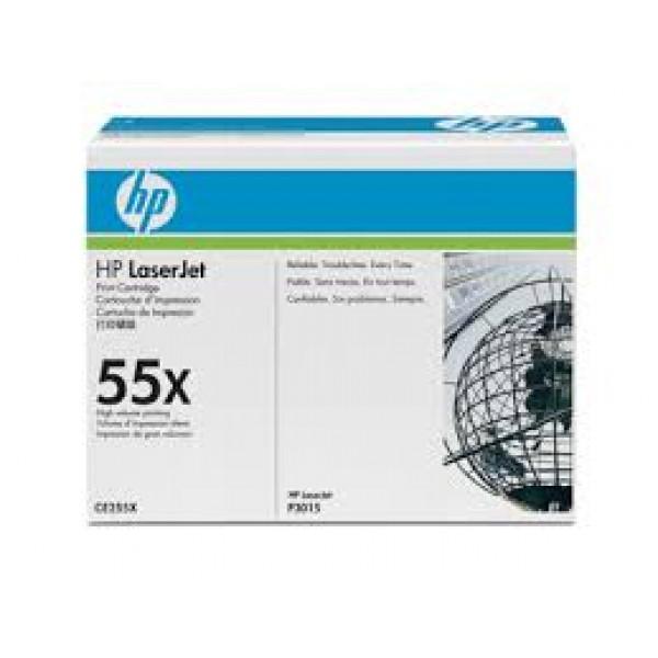 Зареждане на тонер касета HP CE255X