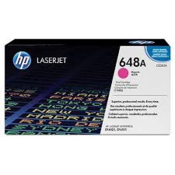 Зареждане на тонер касета HP CE263A -  648A Magenta