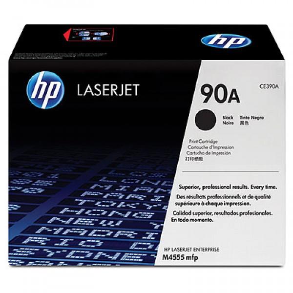 Зареждане на тонер касета HP CE390A