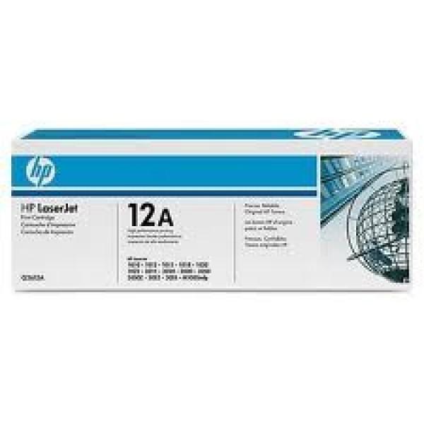 Зареждане на тонер касета HP Q2612A