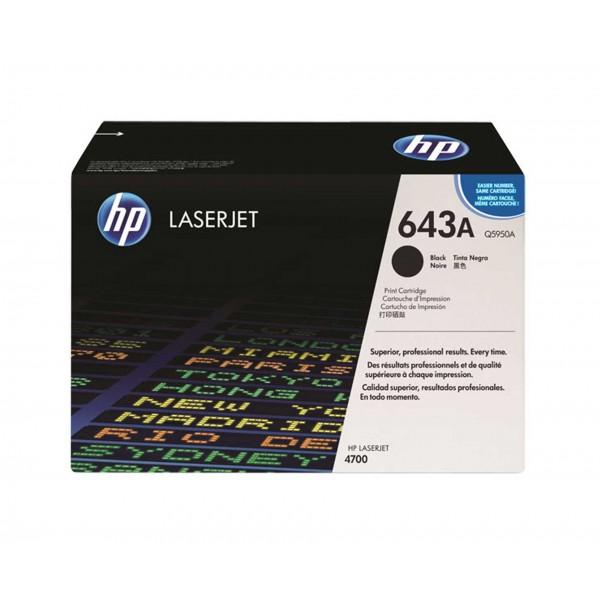 Зареждане на тонер касета HP Q5950A - 643A Black