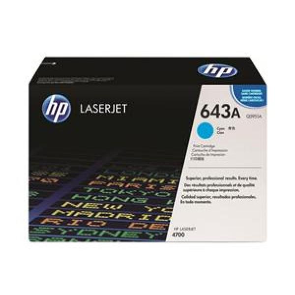 Зареждане на тонер касета HP Q5951A - 643A Cyan
