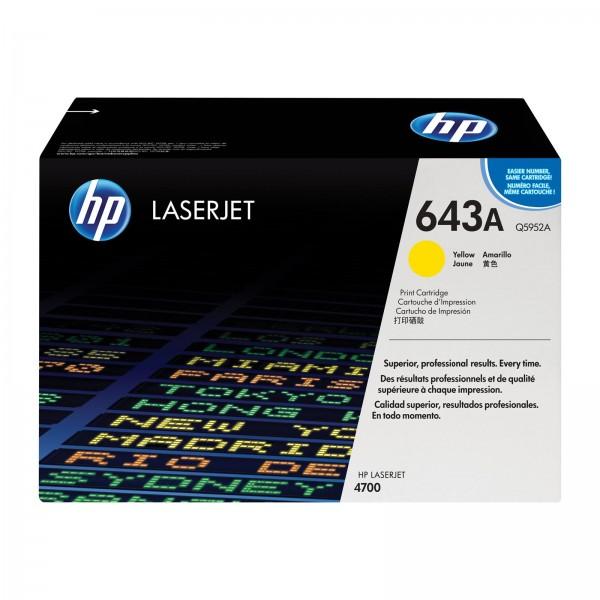 Зареждане на тонер касета HP Q5952A - 643A Yellow