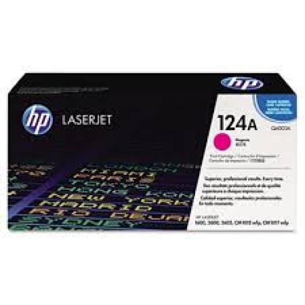 Зареждане на тонер касета HP Q6003A - 124A Magenta