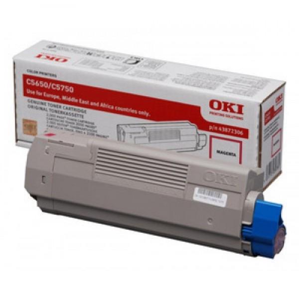 Зареждане на тонер касета OKI  43872306
