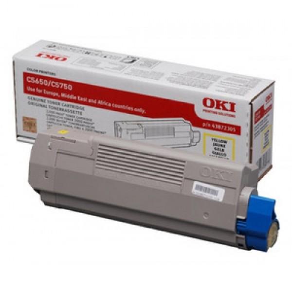 Зареждане на тонер касета OKI 43872305