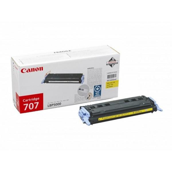 Зареждане на тонер касета Canon CRG-707Y