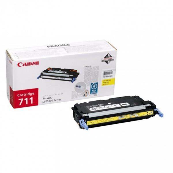 Зареждане на тонер касета  Canon CRG-711Y