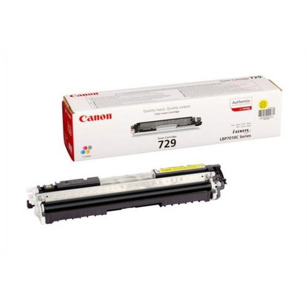 Зареждане на тонер касета Canon CRG 729 Yellow