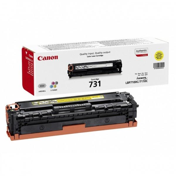 Зареждане на тонер касета  Canon CRG-731 Yellow