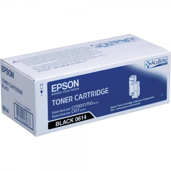Зареждане на тонер касета Epson AL-C1700/C1750/CX17 black -  C13S050614