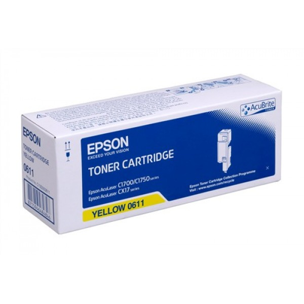 Тонер касета Epson AL-C1700/C1750/CX17 series Yellow  - C13S050611
