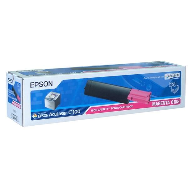 Зареждане на тонер касета  Epson C1100 Magenta  - C13S050188