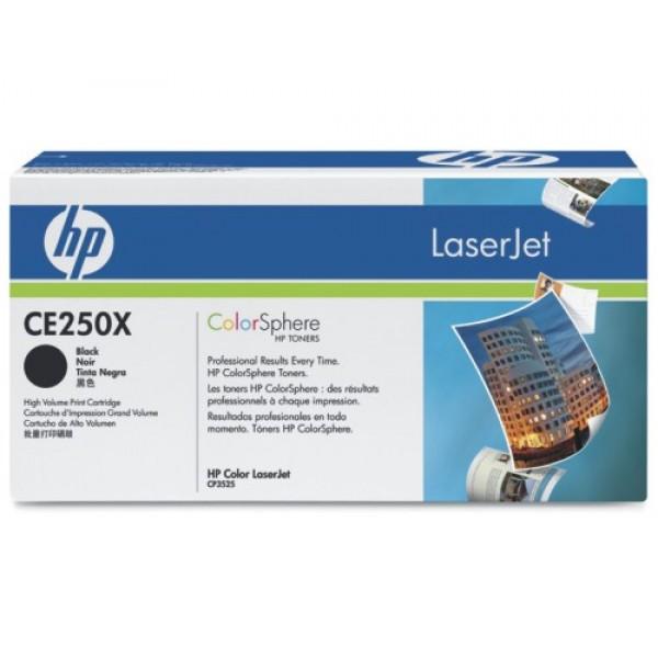 Зареждане на тонер касета HP CE250X black