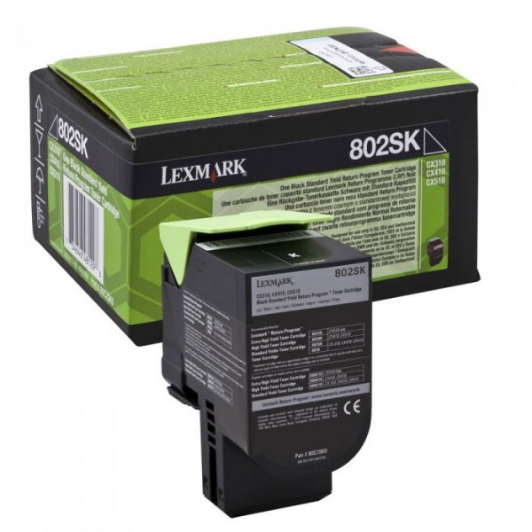 Зареждане на тонер касета Lexmark CX310 / CX410de/ CX510de black - 80C2SK0