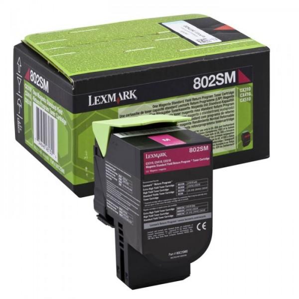 Зареждане на тонер касета Lexmark CX310 / CX410de/ CX510de magenta  - 80C2SM0