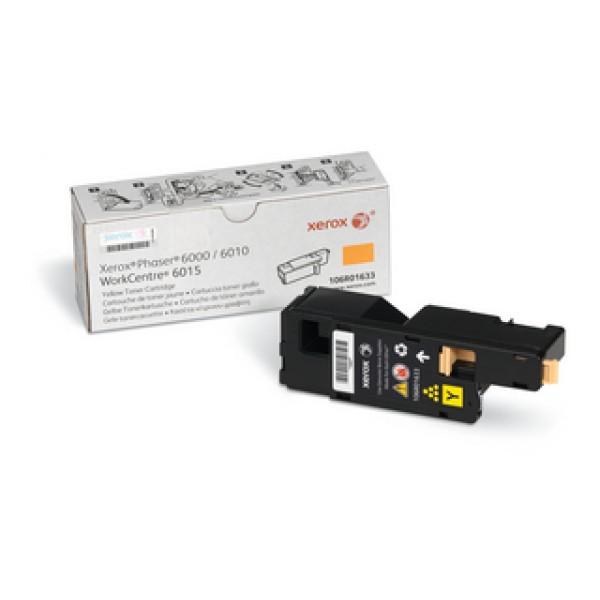 Зареждане на тонер касета  Xerox Phaser 6000/ 6010 Yellow - 106R01633