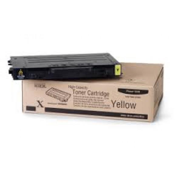 Зареждане на тонер касета  Xerox Phaser 6100 High Capacity Yellow - 106R00682