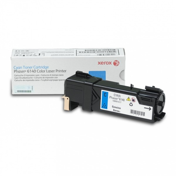 Зареждане на тонер касета  Xerox Phaser 6140 Cyan - 106R01481