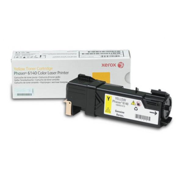 Зареждане на тонер касета  Xerox Phaser 6140 Yellow - 106R01483