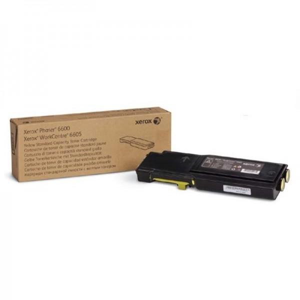 Зареждане на тонер касета Xerox Phaser 6600 / WC 6605 Yellow High Cap.